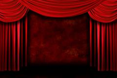 Background of Red Stage Theater Drapes Stock Photos