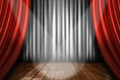 Spotlight on Stage Stock Photos