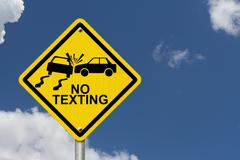 No texting while driving sign Piirros