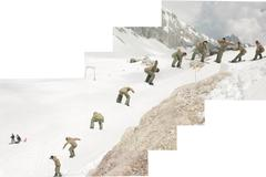 Snowboard 540 Sequence - stock illustration