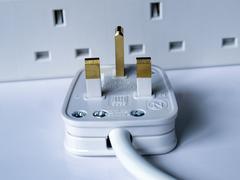 British Plug - stock photo