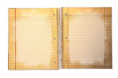Dirty Lined School Paper in a Binder - stock photo