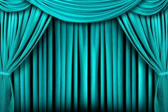 Abstract Teal Theatre Stage Drape Background Stock Photos