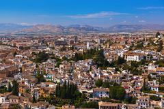 Albaicin (Old Muslim quarter) district of Granada Spain - stock photo
