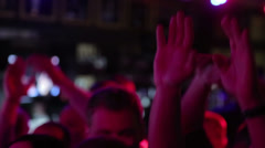 Stock Video Footage of Hands raised up on rock concert 1