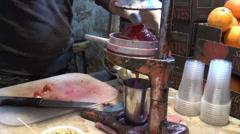 Pomegranate juice Stock Footage