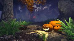 Halloween pumpkins - stock illustration