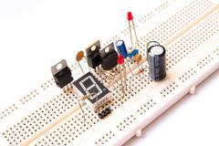 Prototyping electronic board - stock photo