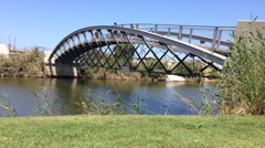 Tel Aviv bridge on the Yarkon stream Stock Footage