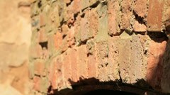 Old brick fireplace rack focus Stock Footage