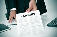 Stock Photo of lawsuit