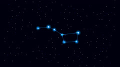 Big Dipper Constellation Stock Footage