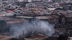 Slum smoke in Africa Stock Footage