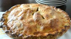 Hot apple pie - stock footage