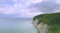 Time Lapse Chalk Cliffs And Ocean Of Rügen Island With Clouds Gathering - stock footage