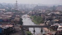 African slum river Stock Footage