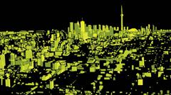 Toronto Night Flight Stock Footage