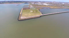 Aerial Liberty Park New Jersey Stock Footage