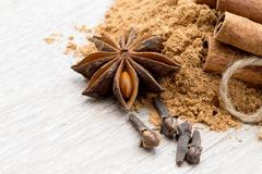 anise and cinnamon - stock photo