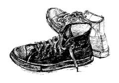 pair of casual shoe - stock illustration