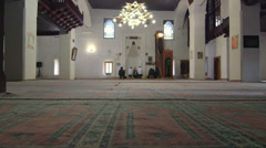 Dolly: Wedding ceremony in prayer hall of the mosque - stock footage