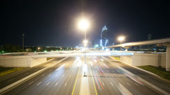 High traffic crossroads in dubai city Stock Footage