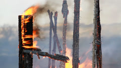 Conflagration. Real Fire. - stock footage