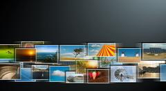 Perspective of images streaming from the deep Stock Photos