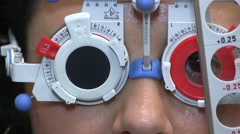 Patient by the eye specialist Stock Footage