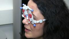 Eye examination in patients Stock Footage