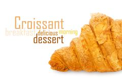 Stock Illustration of Fresh and tasty croissant