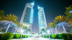 dubai night light centre time lapse - stock footage