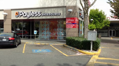 Payless Shoe Source In A Mini-Mall Stock Footage