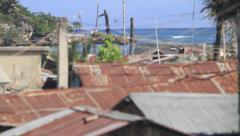 Haiti slums poverty coastal village montage - 3 clips Stock Footage
