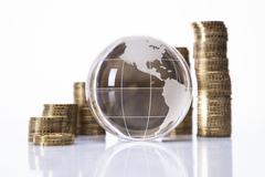 Financial concept. World and money Stock Photos