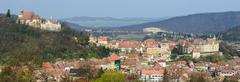 sighisoara panorama - stock photo