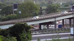 Highway Traffic Bridge Stock Footage