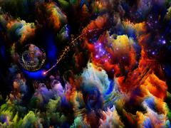 Fractal Dreams Abstraction Stock Illustration