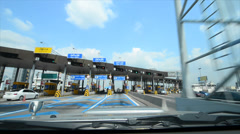 Highway Toll Booth Stock Footage