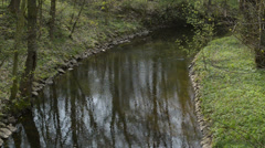 still creek in the springtime,locked down - stock footage