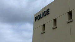 Generic Modern Police Station Department Building Detail Stock Footage