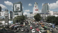 Stock Video Footage of Time Lapse Street Scene With Traffic And Cars In Bangkok - Thailand