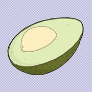 Stock Illustration of avocado cartoon