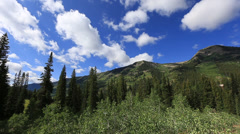 Stock Video Footage of Crested Butte mountains and clouds colorado time lapse