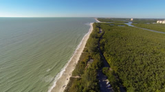 Flying above Florida's Beaches Stock Footage