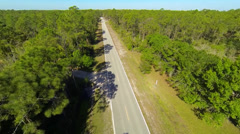 Country road somewhere in Florida Stock Footage
