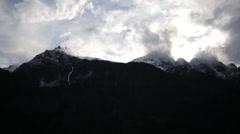 Cascade mountain range time lapse Stock Footage