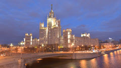 One of Seven Sisters in Moscow, Russia Stock Footage