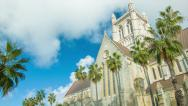 Stock Video Footage of Bermuda Anglican Cathedral in Hamilton