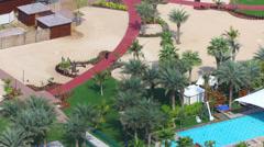 Dubai marina appartment beach view time lapse Stock Footage